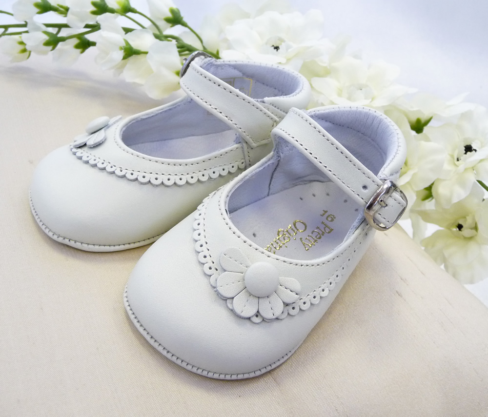 Pretty Originals Baby Girls Ivory Pram Shoes | Briannagh ...