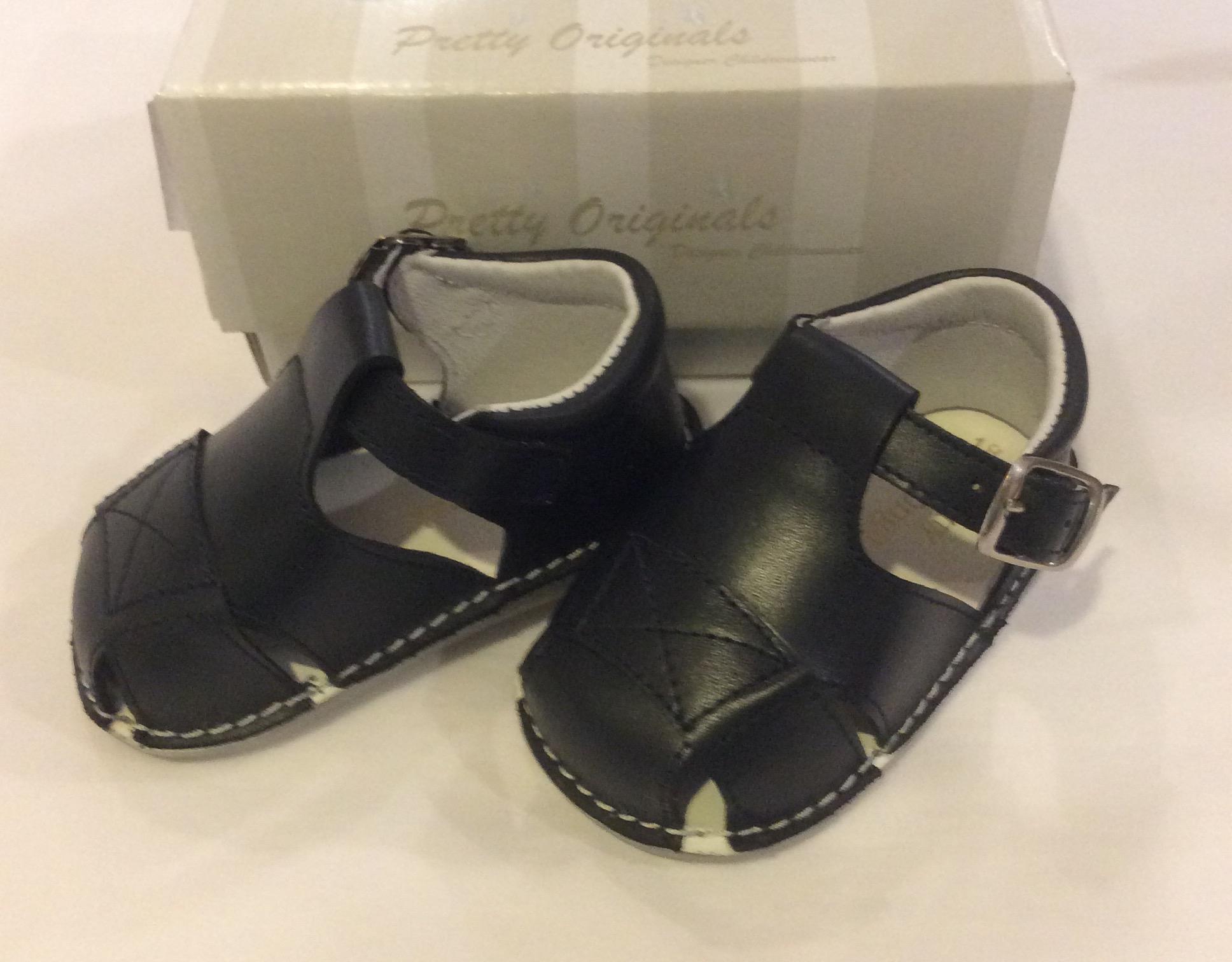 Pretty Originals Baby Boy Navy Box Sandals UE