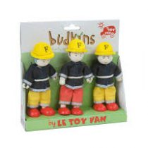 Le Toy Van Budkins Fire Fighters Figures, 3 Pack