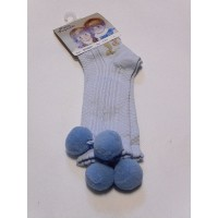 Pretty Originals Pom Pom Socks – Baby Blue
