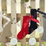 pretty originals grey bow socks