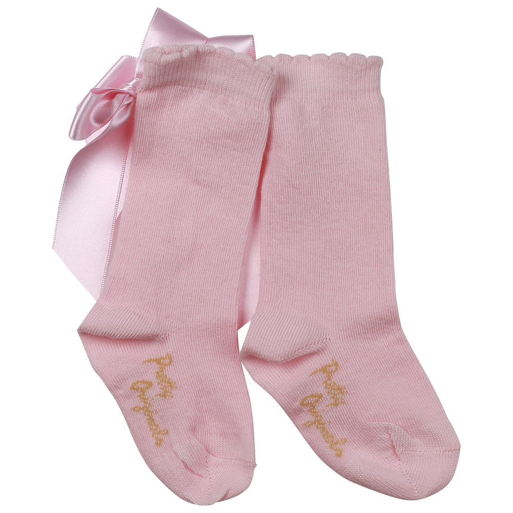 pretty originals pink bow socks