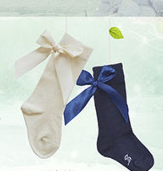 Pretty Originals Socks with Bows – Navy