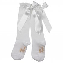 PRETTY ORIGINALS Socks With Bow – White