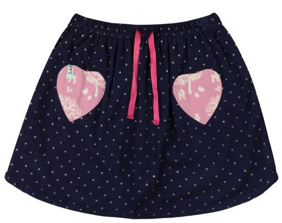 Lilly and Sid – Curved Hem Skirt- Dotty Cord