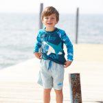 hatley boys striped swim shorts