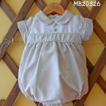 Wheat and white Romper by Pretty Originals