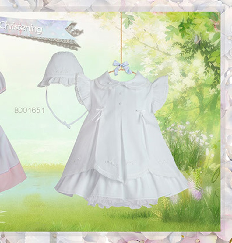 Pretty Originals Pink Dress Set Bd01651 Christening Dress