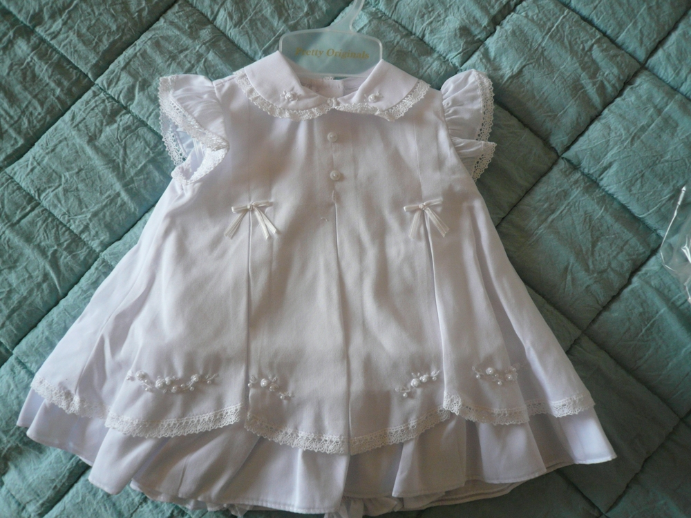 Pretty Originals Pink Dress Set Bd01651 Christening Dress