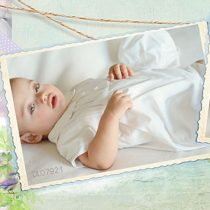 Cream Christening Romper by Pretty Originals