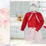 pretty originals aw16 BD01659 older girls red blouse and shorts set