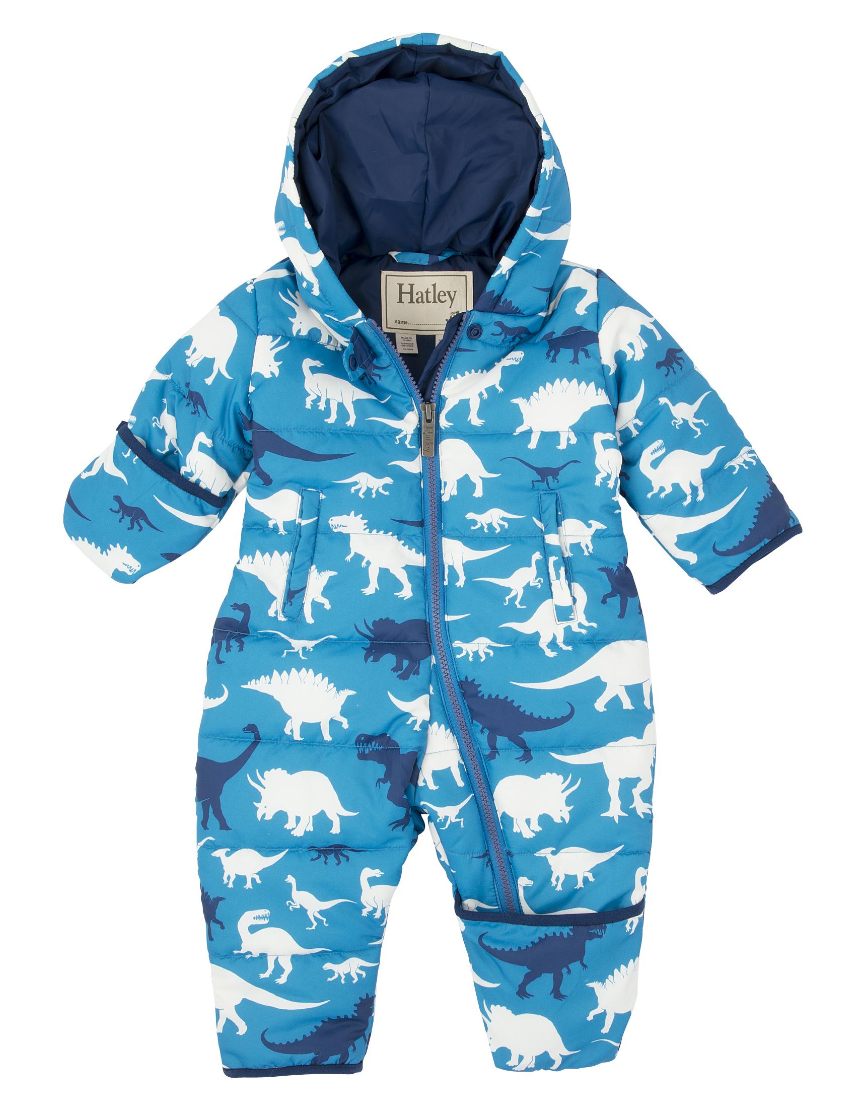 Hatley Baby Dino Snowsuit, Blue
