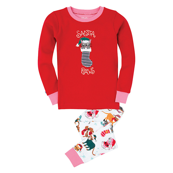 hatley-santa-paws-girls-Christmas Pajamas