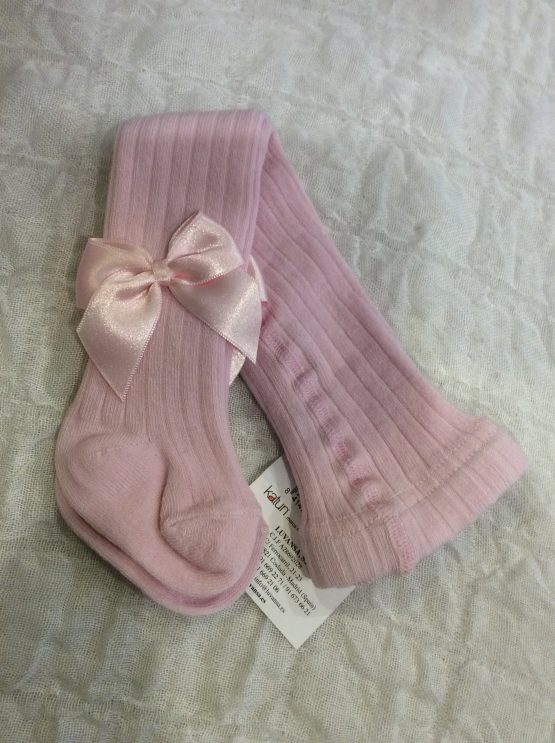 Katun Cotton Rich Bow Tights – Pink
