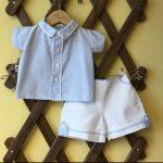 Pretty Originals Blue Shirt & White Shorts