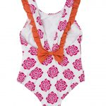 Hatley Pink Flower with Orange Swimsuit