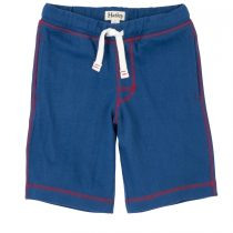 Hatley Blue  with Red Stitching cord pull 100% Cotton Shorts