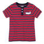 Hatley Red and Navy Striped Boys Tee Shirt