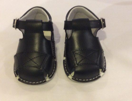 Pretty Originals Navy Baby Boys Sandals