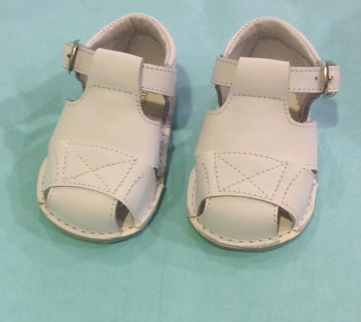 Pretty Originals White Baby Boys Sandals