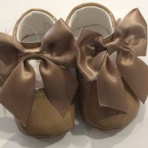 Couche Tot Baby Girl Leather Mary Jane Bow Pram Shoes – Camel