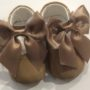 Couche Tot Baby Girl Leather Mary Jane Bow Pram Shoes - Camel