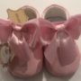 Couche Tot Baby Girl Leather Mary Jane Bow Pram Shoes - Pink
