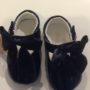 Couche Tot Baby Girl Leather Mary Jane Bow Pram Shoes - Navy