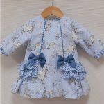 Sardon Girls Blue Winter Floral Dress