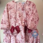 Sardon Girls Pink Winter Floral Dress