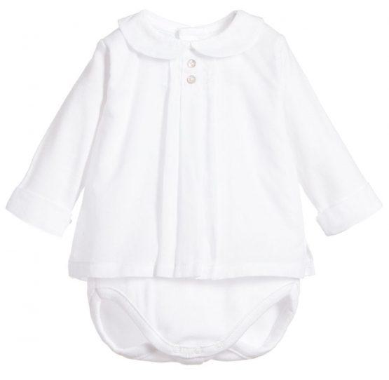 Babidu Peter Pan Collar Vest with Shirt Overlay