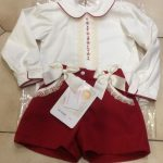 Pretty Originals Red Shorts and Blouse Set