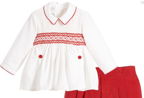 Pretty Originals Boys Smock Set - Red - Traditional Buster Set