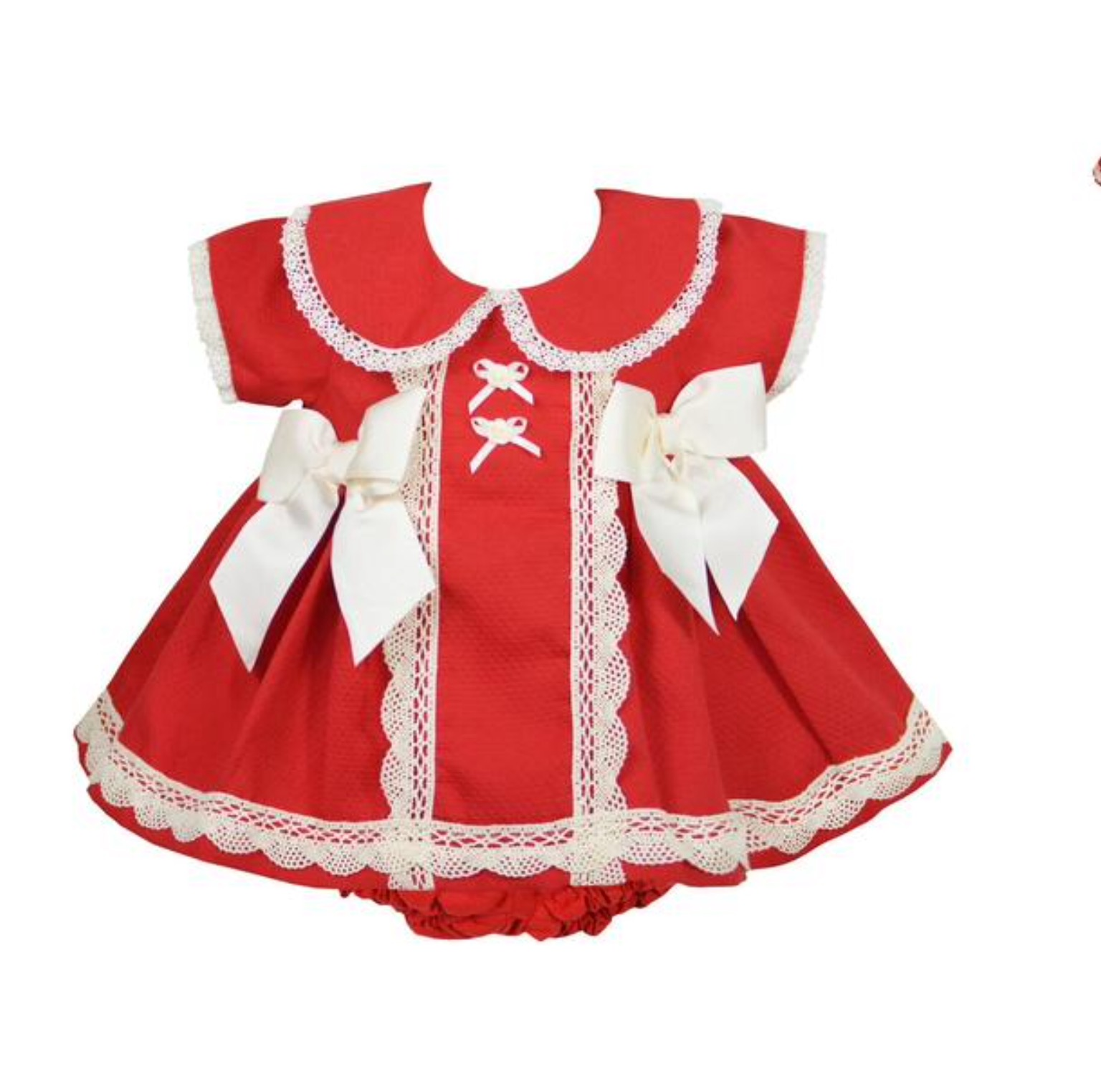 Pretty Originals Baby Girls Red Christmas Dress Ref MB10651