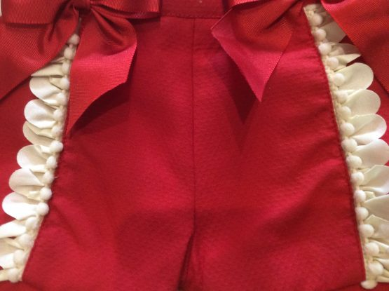 Pretty Originals Baby Girls Red Shorts & Blouse Set MB10637