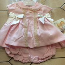 Pretty Originals Pink/Cream Large Bow Dress and  Knickers