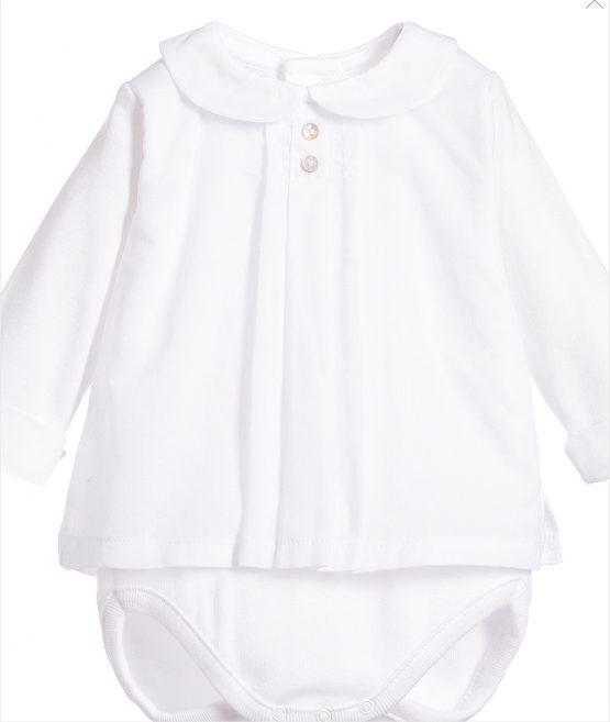 Baby Boy / Girl White Spanish Vest by Babidu