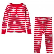 Hatley Unisex Snow Flake Christmas Pyjamas by Hatley