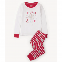 Hatley Girls Snow Flake Christmas Pyjamas by Hatley
