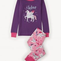 Hatley Girls Unicorn Appliqué  Pajamas