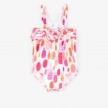 Hatley Tropical Pineapples Baby Ruffle Swimsuit
