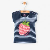 Hatley Navy Striped – 3D Berry – Mini Tee