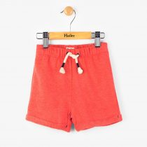 Hatley Fire Corallium mini pull on shorts – orange