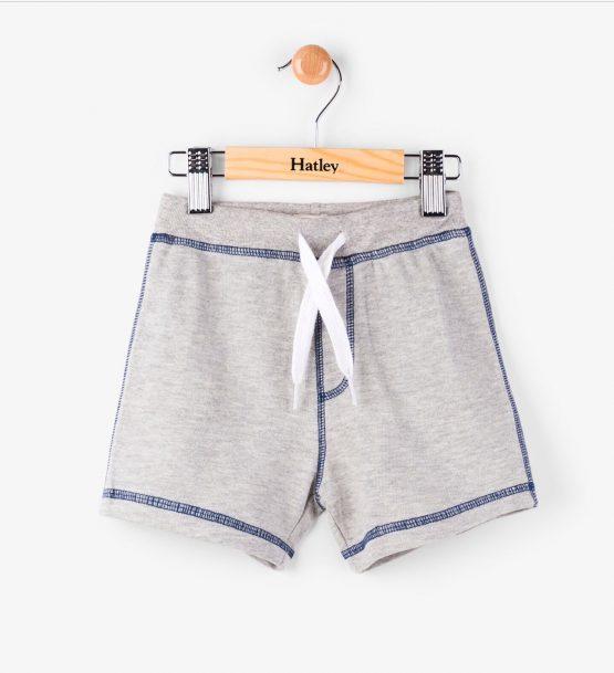 Hatley Grey Marl Mini Pull-On Shorts