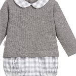 Babidu Peter Pan Collar Grey Check Set Ref 42008