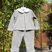 Babidu Baby 2 Piece Grey Set –  Peter Pan Top