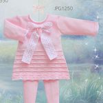 Pretty Originals Knitted Dress & Tights Set with Large Bow JPG1250