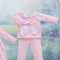 Pretty Originals Knitted Pink Set with Large Bow