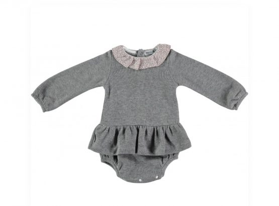 Babidu Baby Girl Romper Dress with Frill Collar