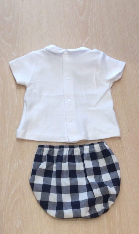 Babidu Navy Check Shorts Set Ref 41404